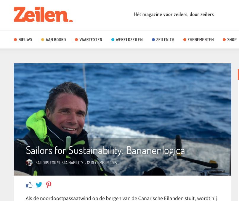 26 Sailors for Sustainability at Zeilen about Banana Logic 20181212