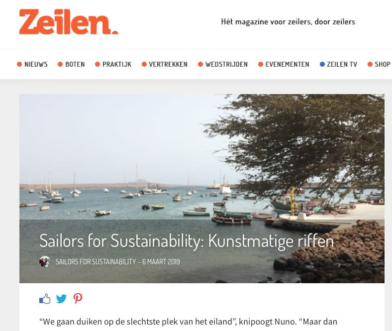 29 Sailors for Sustainability at Zeilen about Artificial Reefs 20190306