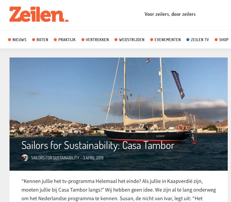 30 Sailors for Sustainability at Zeilen about Casa Tambor 20190403