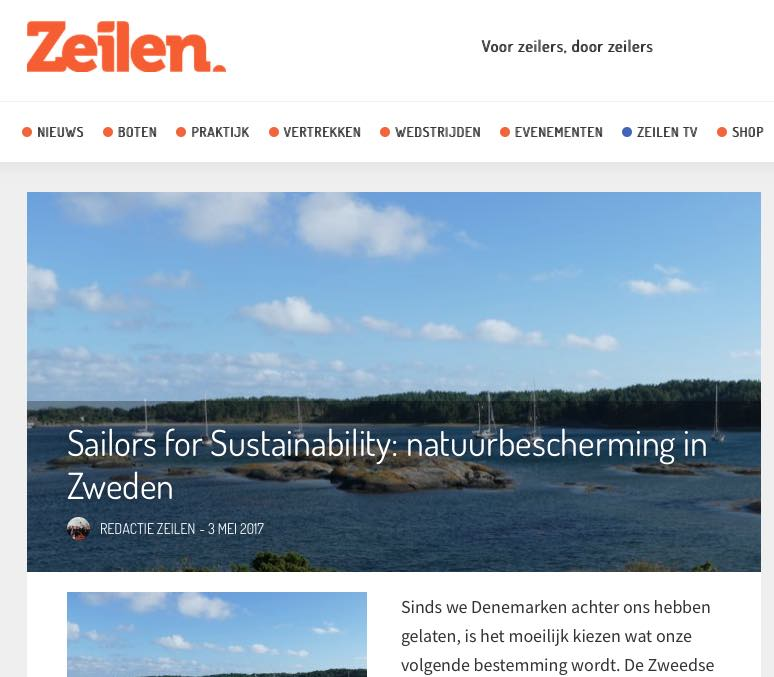 5 Sailors for Sustainability at Zeilen about Swedish Nature Protection 20170503