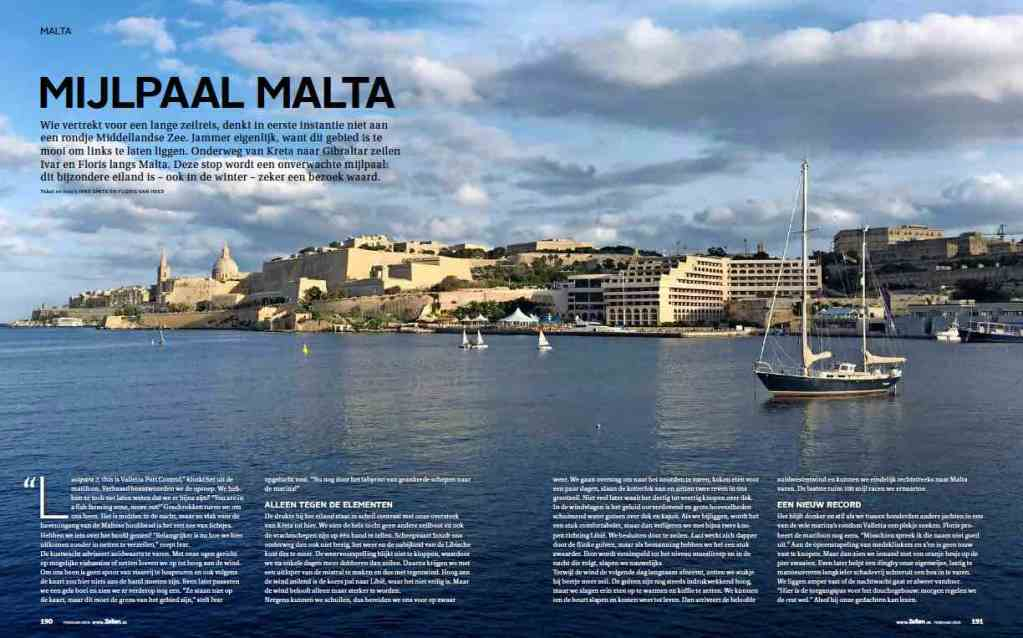 Article 9 Sailors for Sustainability in Zeilen 201904 about Malta