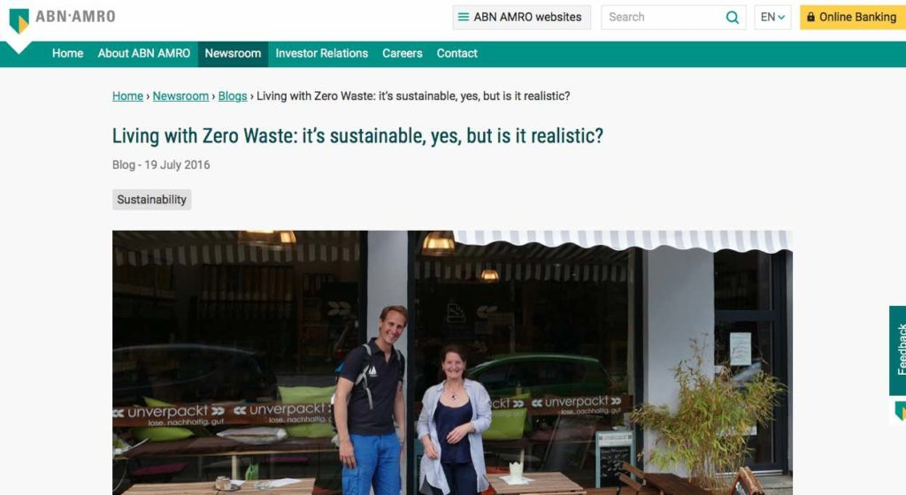 Blog 2 Eng Sailors for Sustainability at ABN AMRO Zero Waste