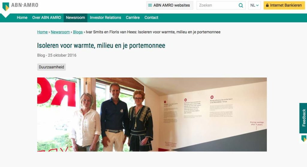 Blog 6 NL Sailors for Sustainability at ABN AMRO Insulation