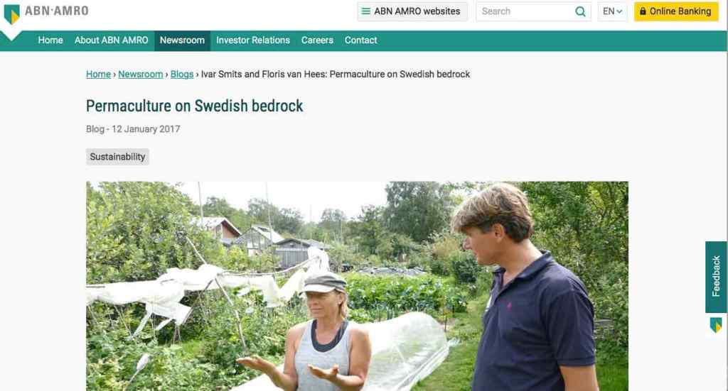 Blog 8 Eng Sailors for Sustainability at ABN AMRO Permaculture