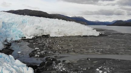 The extent of the melted glacier is shocking
