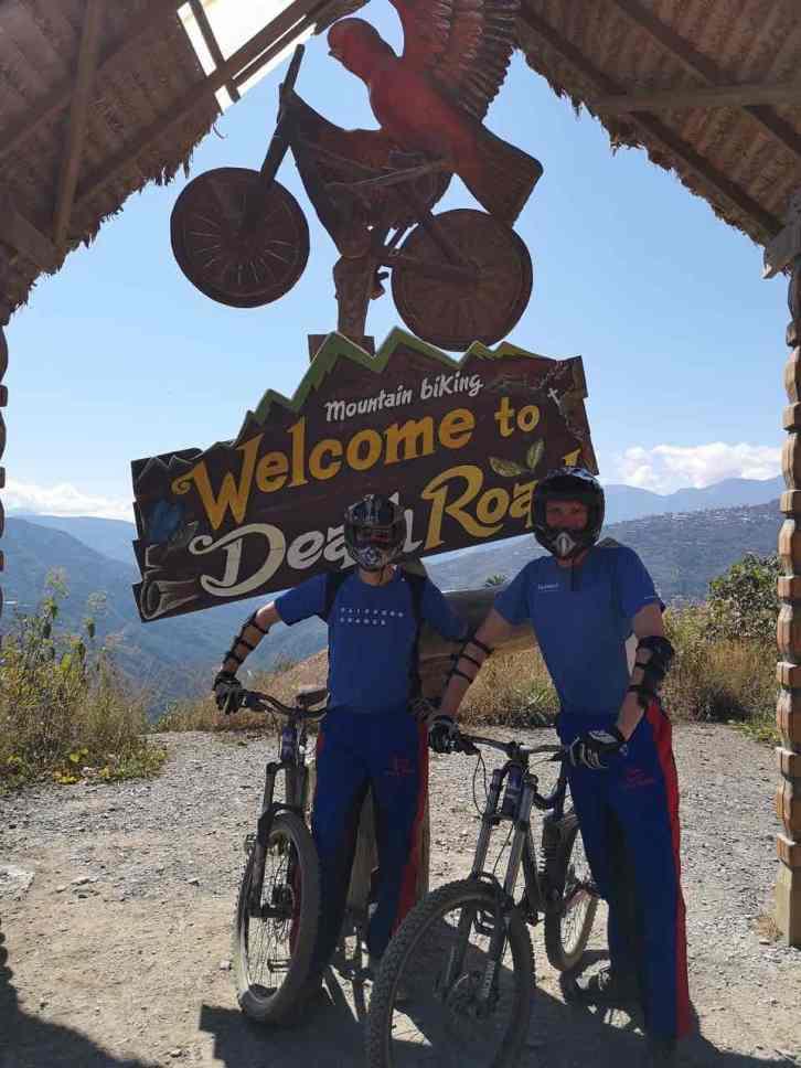 Biking adventure near La Paz