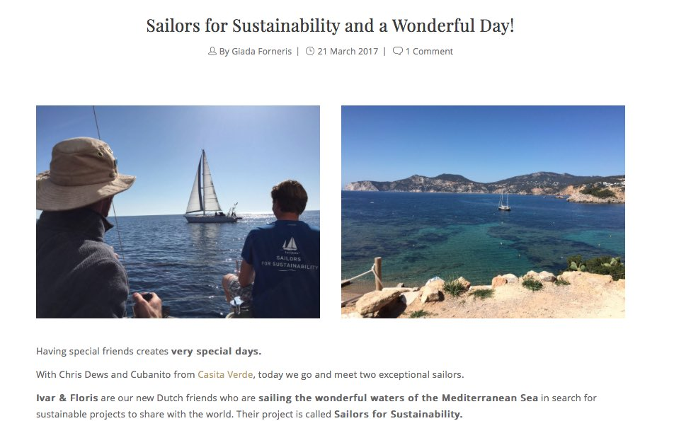 Sailors for Sustainability at Ibiland 201703