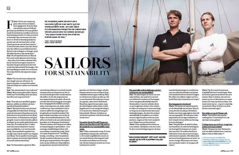 Sailors for Sustainability at Winq magazine 201608