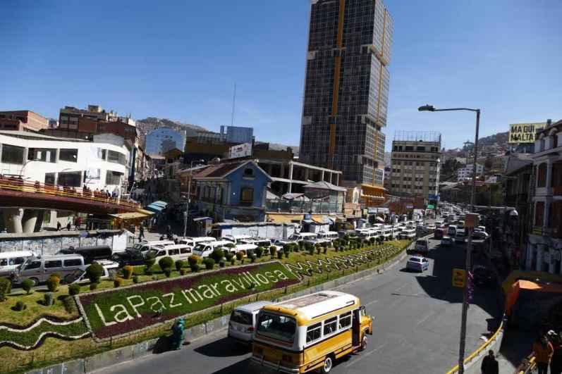 Traffic congestion in La Paz