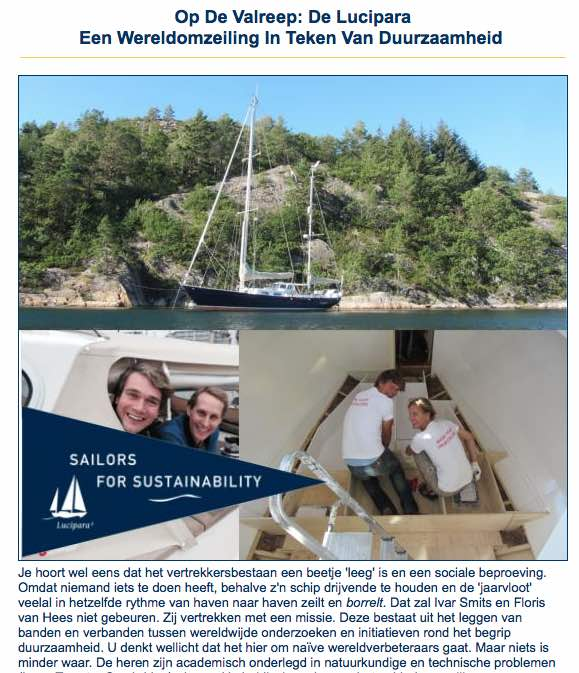 Nauticlink about Sailors for Sustainability