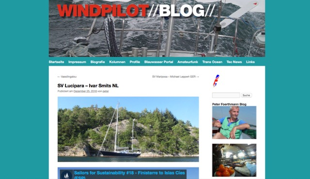 Windpilot about Sailors for Sustainability