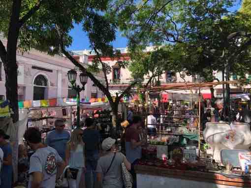 Sunday market San Telmo in Buenos Aires
