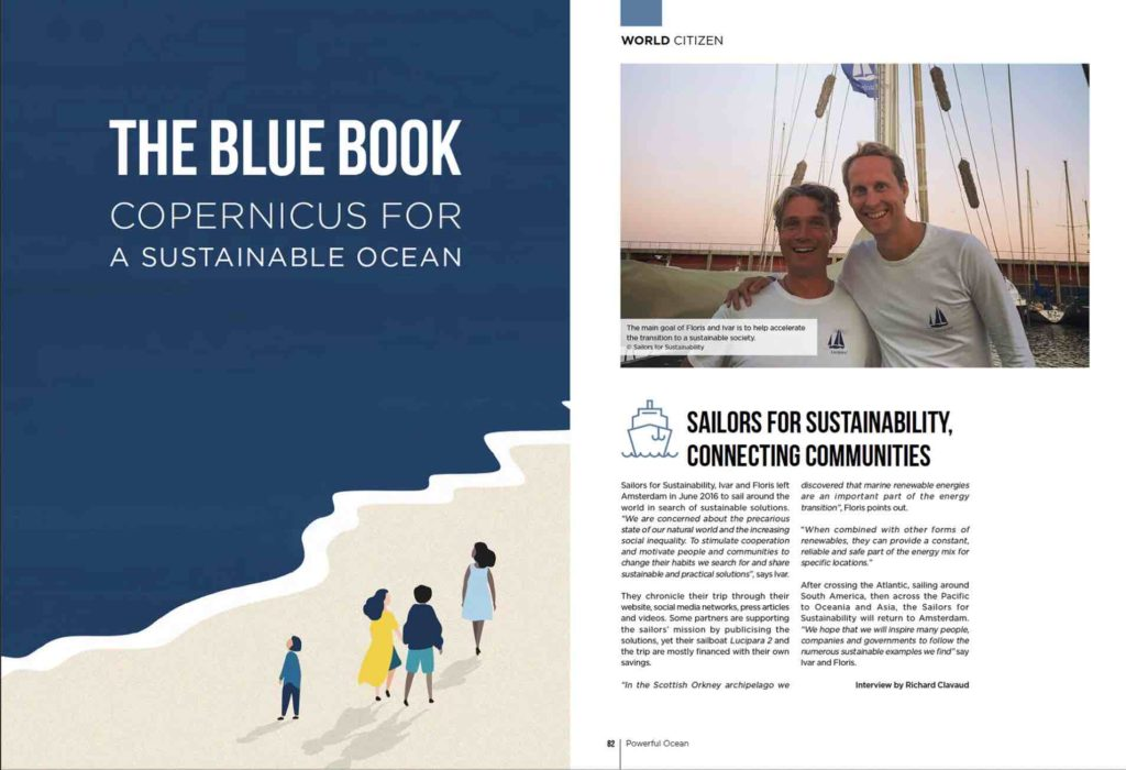 Sailors for Sustainability in The Blue Book Copernicus 20191113