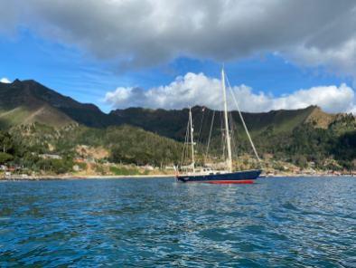 Anchored at Isla Robinson Crusoe