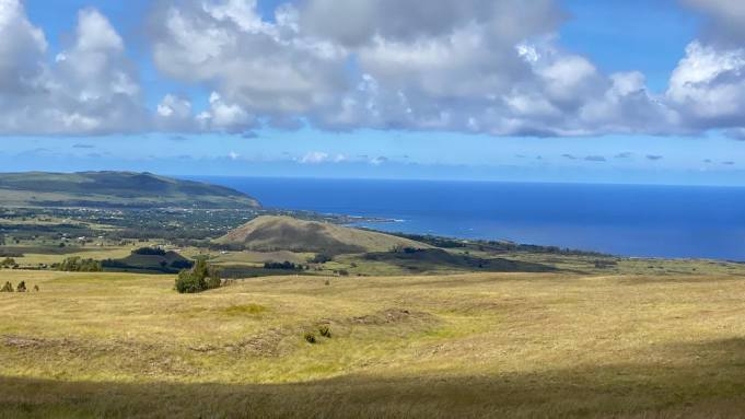View on Rapa Nui still reveals the extent of deforestation