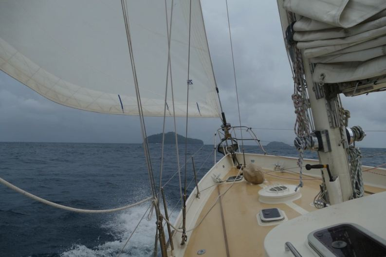 Arriving at the Gambier archipelago