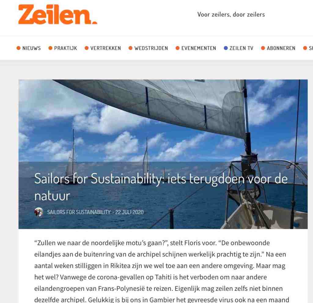 47 Sailors for Sustainability at Zeilen about cleanup 20200722