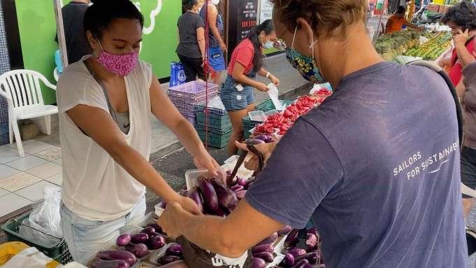 Buying at the Sunday market