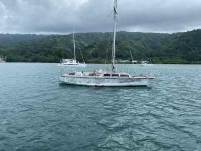 Deserted boat at Port Phaeton