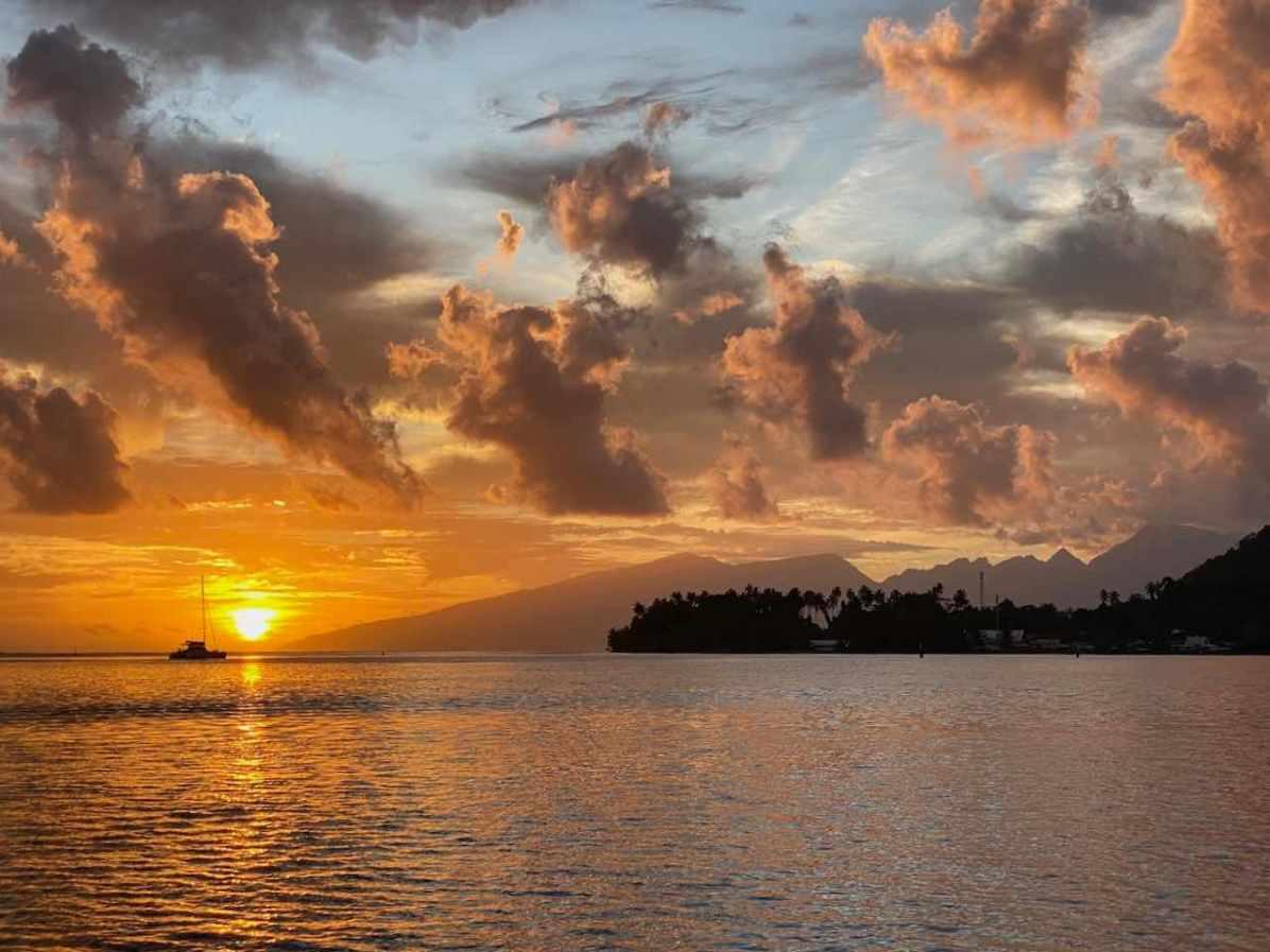Sunset over Tahiti