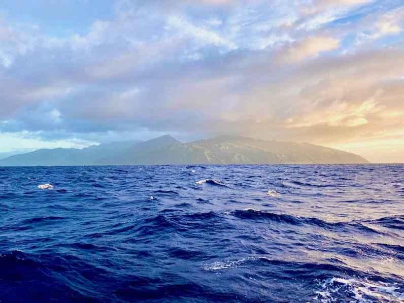 Tahiti in the morning sun