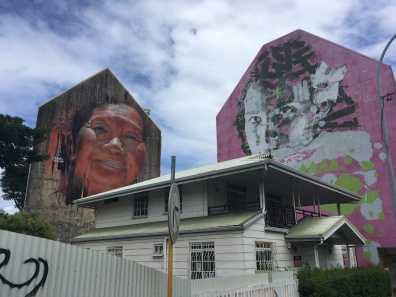 Impressive murals in Papeete