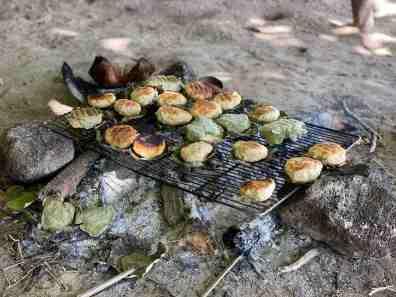 Making coconut bread