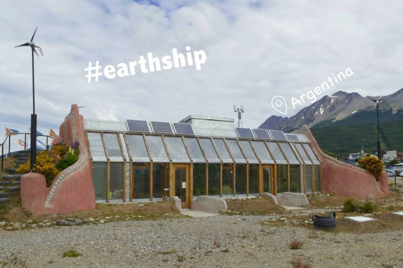 Earthship building in Ushuaia
