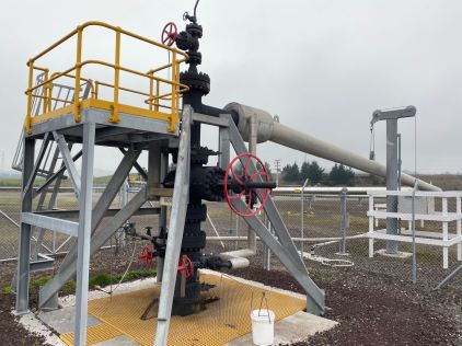 A steam well can be up to three kilometers deep