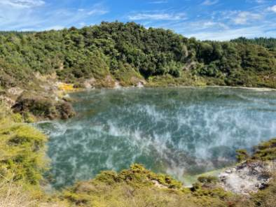 Steaming lakes in the Waimangu volcanic valley