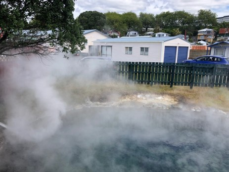 The people in Rotorua are used to the earth's heat