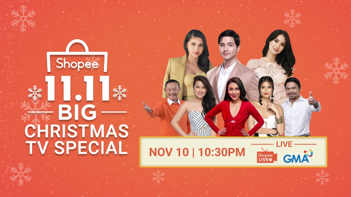 Shopee Holds its First-Ever 11.11 Big Christmas TV Special