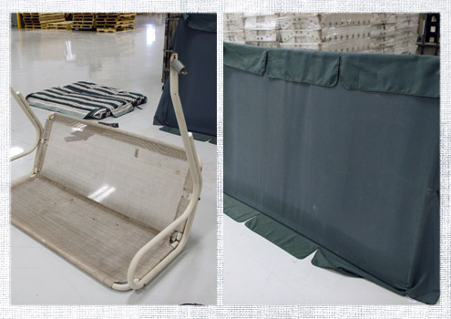 how to make a replacement swing canopy