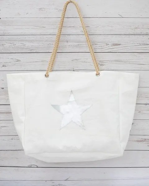 Silver Star Beach Bag