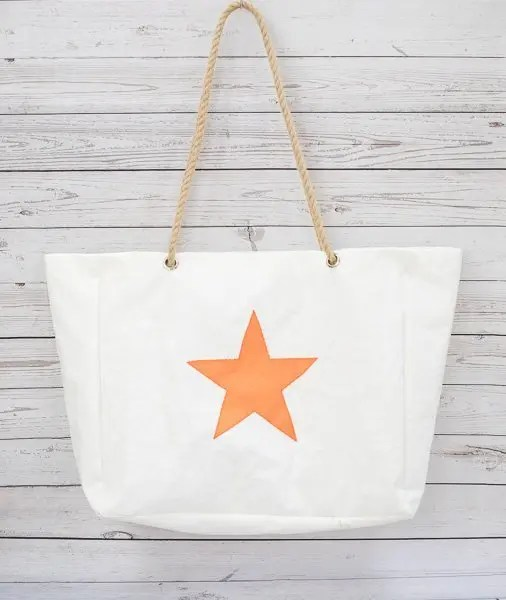 Orange Star Beach Bag