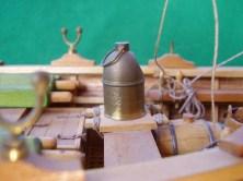 Dettaglio della chiesuola di bussola - Detail of the compass binnacle