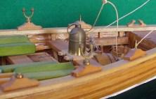 Dettaglio della chiesuola di bussola - Detail of compass binnacle