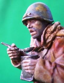 Fante sovietico 1943, dettaglio del volto - Soviet infantryman 1943, detail of the face