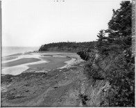 Notman photograph ca. 1915. Note cabins on western headland.