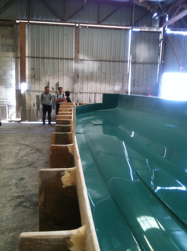 This is one of the molds used to fabricate the 5X hull sides
