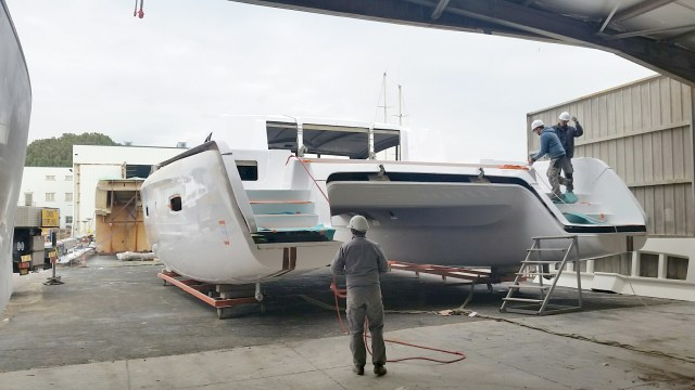 The deck is now in place on top of the hull section