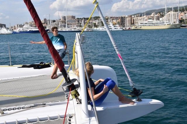Arriving in Palma Majorca. We had perfect sailing conditions, reaching at 10 to 11 knots is 12 to 15 knots of wind and smooth water. Lovely!