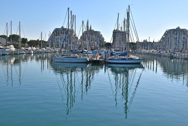 La Grande Motte marina.