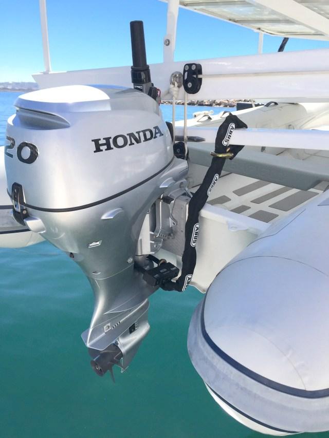 ABUS outboard motor lock