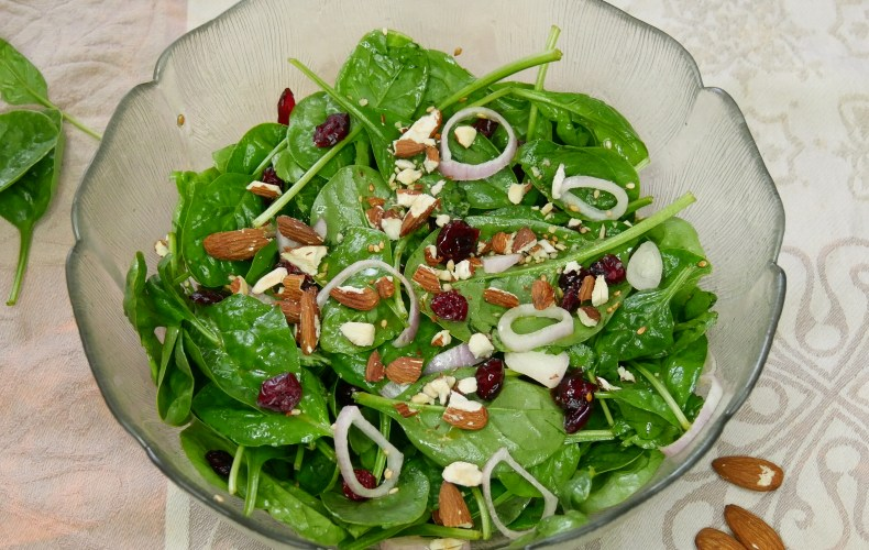 Salade d'épinards & Cranberry