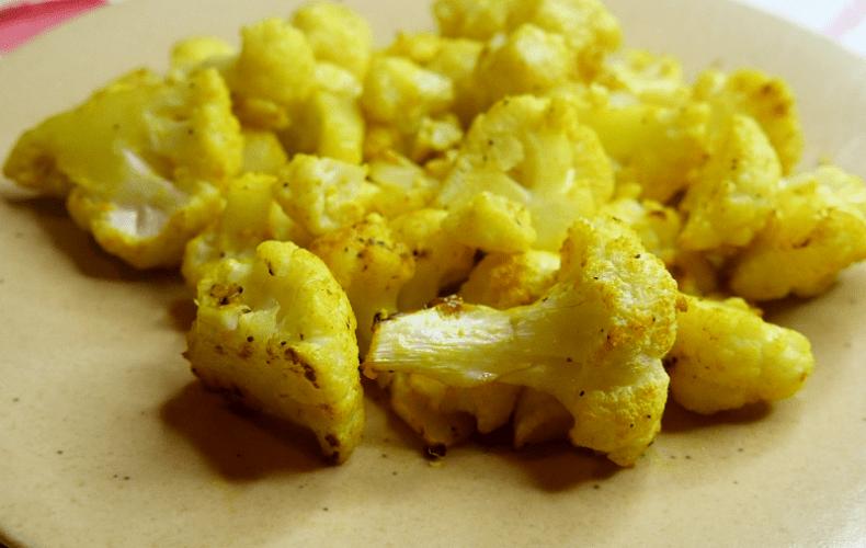 Chou-fleur rôti au curcuma