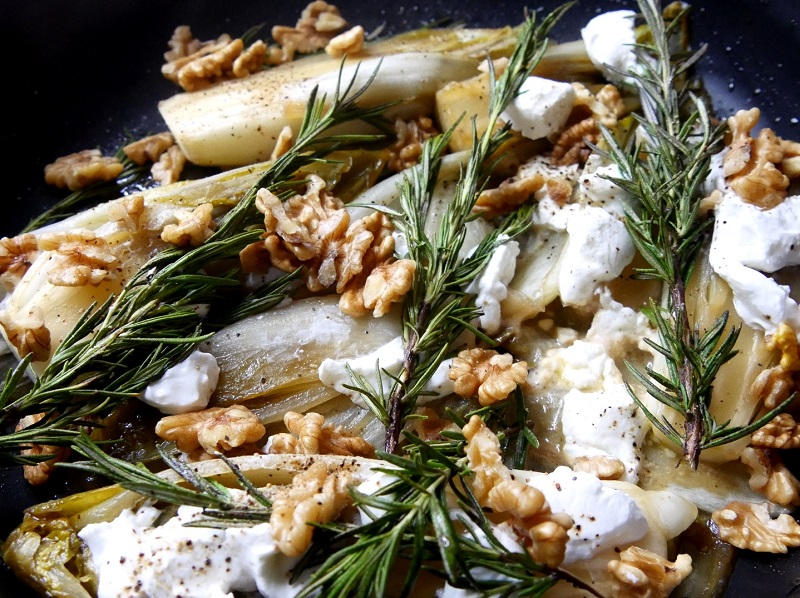 Endives braisées au miel chèvre et noix - Endives Braisées au Miel, Chèvre & Noix