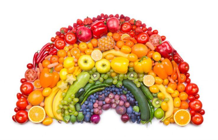 Fruits et légumes couleurs arc en ciel 1024x657 - Mangez une grande diversité de fruits et légumes pour être en bonne santé