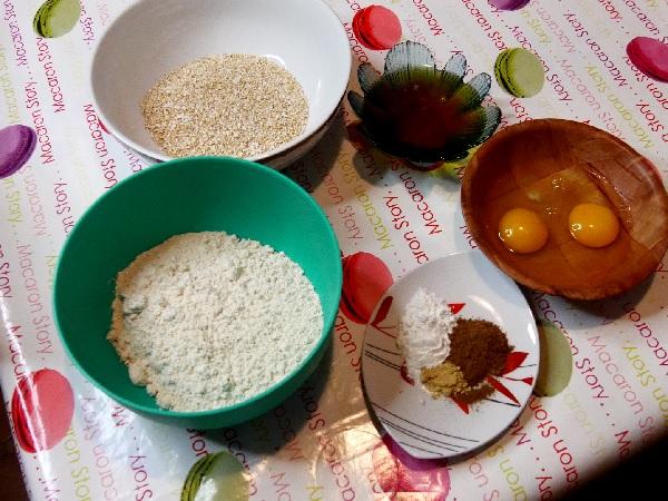 Pain d'épices au son d'avoine - Les ingrédients