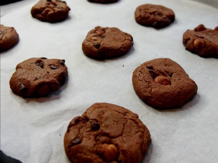 Cookies à la farine de pois-chiches - A la sortie du four 2